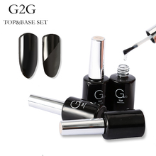 GIRL2GIRL 10ml Matt Top Coat Rubber Base Coat Led Gel Nail Polish UV Nail Primer Soak Off UV Nail Gel Manicure Nail Art Salon