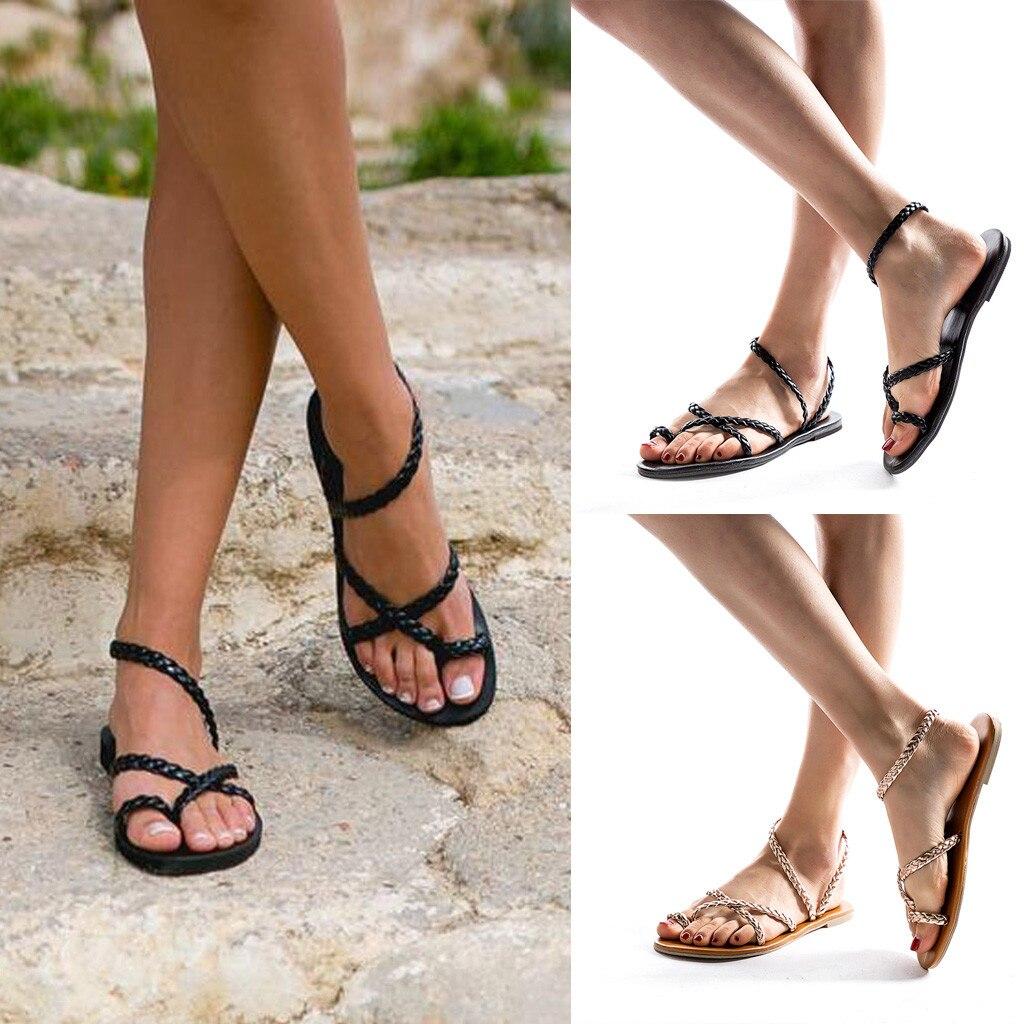 Women Beach Sandals,Ladies Roman Shoes Summer Breathable Shoes