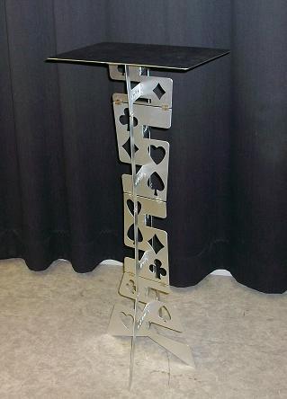 Table pliante magique en aluminium (alliage)-couleur argent tours de magie meilleure scène de tableau du magicien gros plan Illusions accessoires Magia - 5