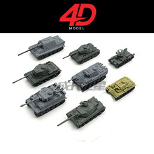 4D New Arrival 8pcs/lot 1:144 World War II Tanks Plastic Assembly Model Tanks Toy Sand Table Model World of Tanks Collection купить недорого в Москве