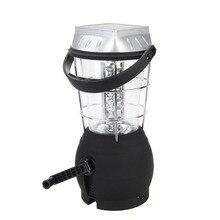 Solar 36 LED Hand Crank Dynamo Bright Lantern Outdoor Fishing Camping Tent Light
