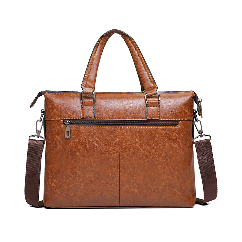 Image 4 - JEEP BULUO Mens Briefcase Fashion Handbags For Man Sacoche Homme  Marque Male leather Bag For A4 Documents 13 Laptop 6015Briefcases