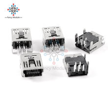 20Pcs Mini USB Type B 5-Pin Female Socket Right Angle DIP Jack Connector(China)