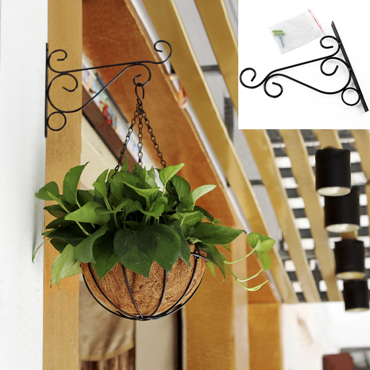 Metal Iron Wall Brackets Garden Hanging Plant Hooks Hangers Lantern Basket Pot Hook For Decoration In Baskets From Home