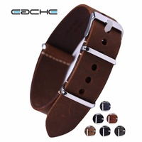 High Quality Genuine Leather Nato Watch Straps Watchband 20mm 22mm 24mm With Silver Buckles Wholesales
