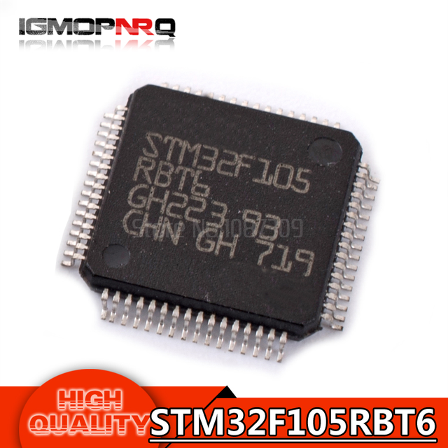 10PCS free shipping STM32F105RBT6 STM32F105 RBT6 QFP64 ARM Microcontrollers - MCU 32BIT Cortex 64/25 CVITY LINE M3