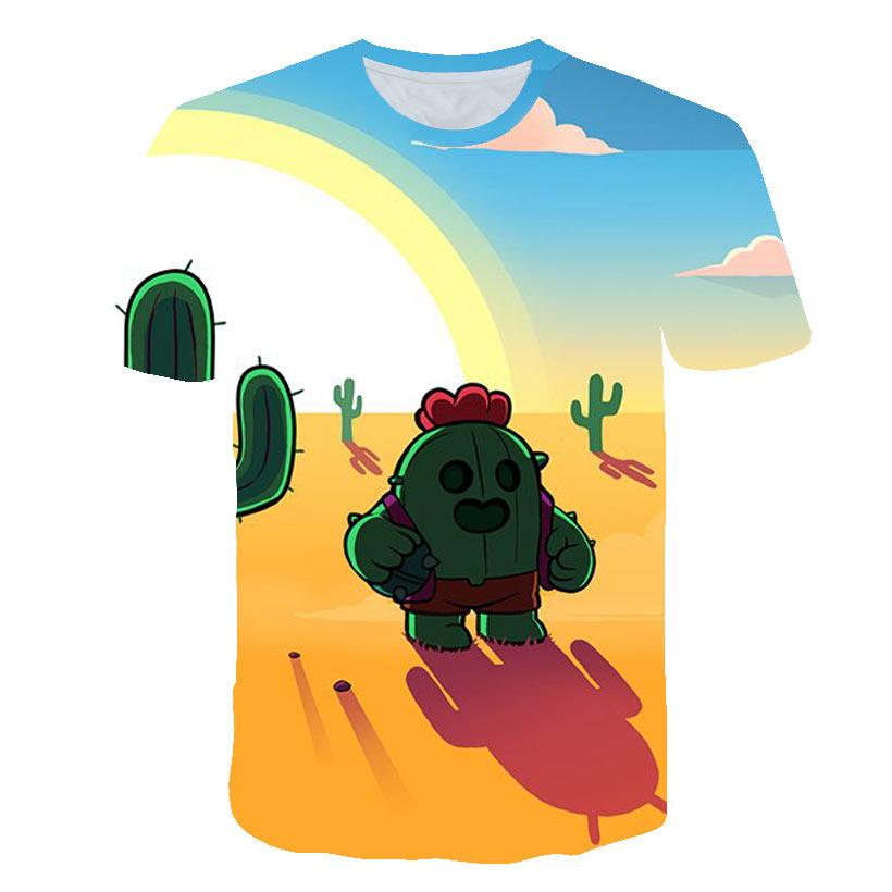 Newest Summer Shooting Game   T     Shirt   Men Women 3D Print Brawl Stars   T     Shirt   Cartoon Fashion Casual Streetwear Tops Plus Size