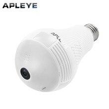 APLEYE 960P Wireless IP Camera E27 LED Bulb Light Panoramic Wi-Fi Lamp FishEye WIFI Camera CCTV Home Security Mini P2P Camara