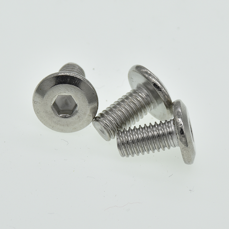 10/5PCS M6 M8*(12/16/20/25/30/35) 304 Stainless Steel Flat Head with Hex Head Screws / Furniture Bolt10/5PCS M6 M8*(12/16/20/25/30/35) 304 Stainless Steel Flat Head with Hex Head Screws / Furniture Bolt