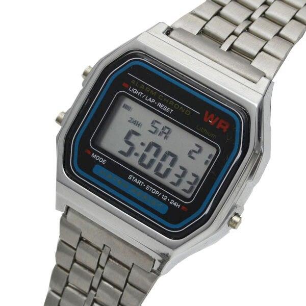23c2ba7c5 F 91W LED Digital Waterproof Silver Ultrathin Bracelet Samurai Watch for Women  Men Reloj Army Hombre Cheap High Quality-in Women's Watches from Watches on  ...