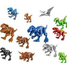 Jurassic Dinosaurs World Park Tyrannosaurus Rex Carnotaurus Dilophosaurus Building Blocks Kids Toys juguete