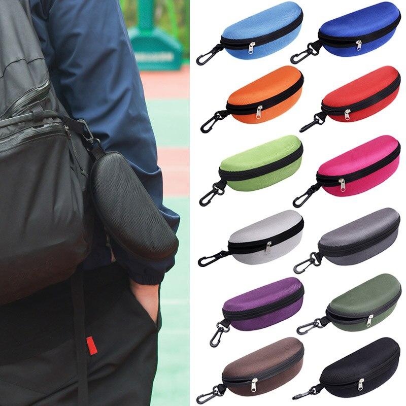 Men's Glasses Zipper Eye Glasses Sunglasses Hard Case Box Portable Protector Black Sunglasses Box Lt88 Pure White And Translucent Back To Search Resultsapparel Accessories