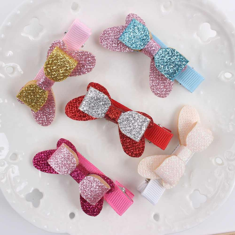 1pcs new double big and small bow Patchwork combination hairpin material sponge Hair Accessories for girls KIDS barrettes BM017