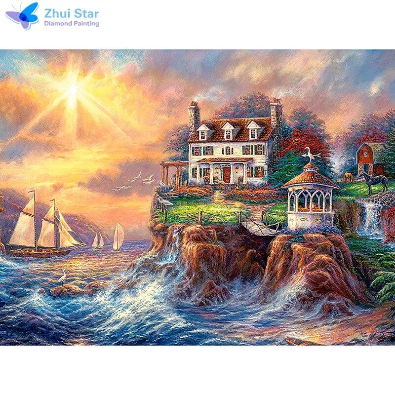 Haus am meer bei sonnenuntergang  Sonnenuntergang Haus-Kaufen billigSonnenuntergang Haus Partien aus ...