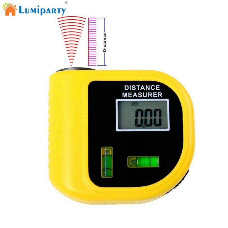 LumiParty CP-3010 18M Mini Ultrasonic Digital Tape Measure Laser Rangefinder Ultrasonic Distance Pointer Rangefinder Level Tool lumiparty cp 3010 18m mini ultrasonic digital tape measure laser rangefinder ultrasonic distance pointer rangefinder level tool