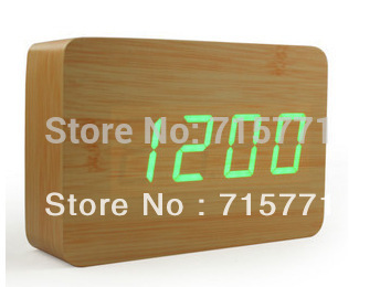 New Creative retro LED wooden modern alarm clock multiple sets alarm clocks electronic bell desk clock led clock
