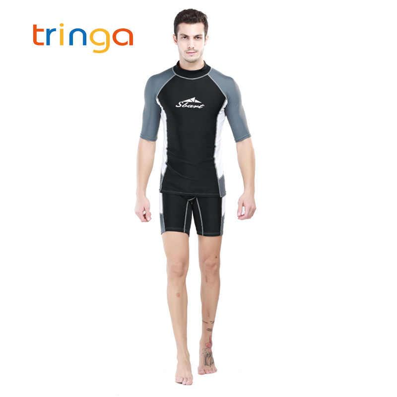 الرجال ملابس السباحة الغوص الرطب الدعاوى ليكرا قصيرة الأكمام رجل الشمس فوق البنفسجية حماية إركب الرياح طفح الحرس الغوص قميص الرطب الدعاوى الذكور