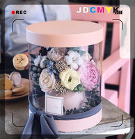 PVC Transparent Florist Packing Flower Gift Box Wedding Party Decoration Favors Gift For Guests Christmas Souvenirs