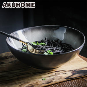 Large Ceramic Salad Bowl Soup Bowl Creative Home AKUHOME