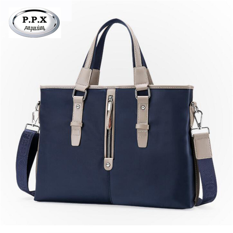 P.P.X Gentleman Bag Casual A4 File Satchel Business Affairs Travelling Handbag For Men High Quality  Oxford Computer Bag M466 casual canvas satchel men sling bag