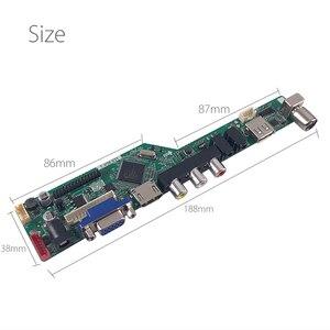 Image 5 - Destek rusça yükseltilmiş V56.031 evrensel LCD TV denetleyici sürücü panosu TV/PC/VGA/HDMI/USB USB oyun medya v56 çip freegift