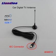 Liandlee Car Digital TV Antenna Amplifier DVB-T ISDB-T ATSC Automobile Active Aerial IEC Connector Male Plug Booster ANT #AM919 dvb tw35b colosseum pattern dvb t 35db iec digital tv antenna black