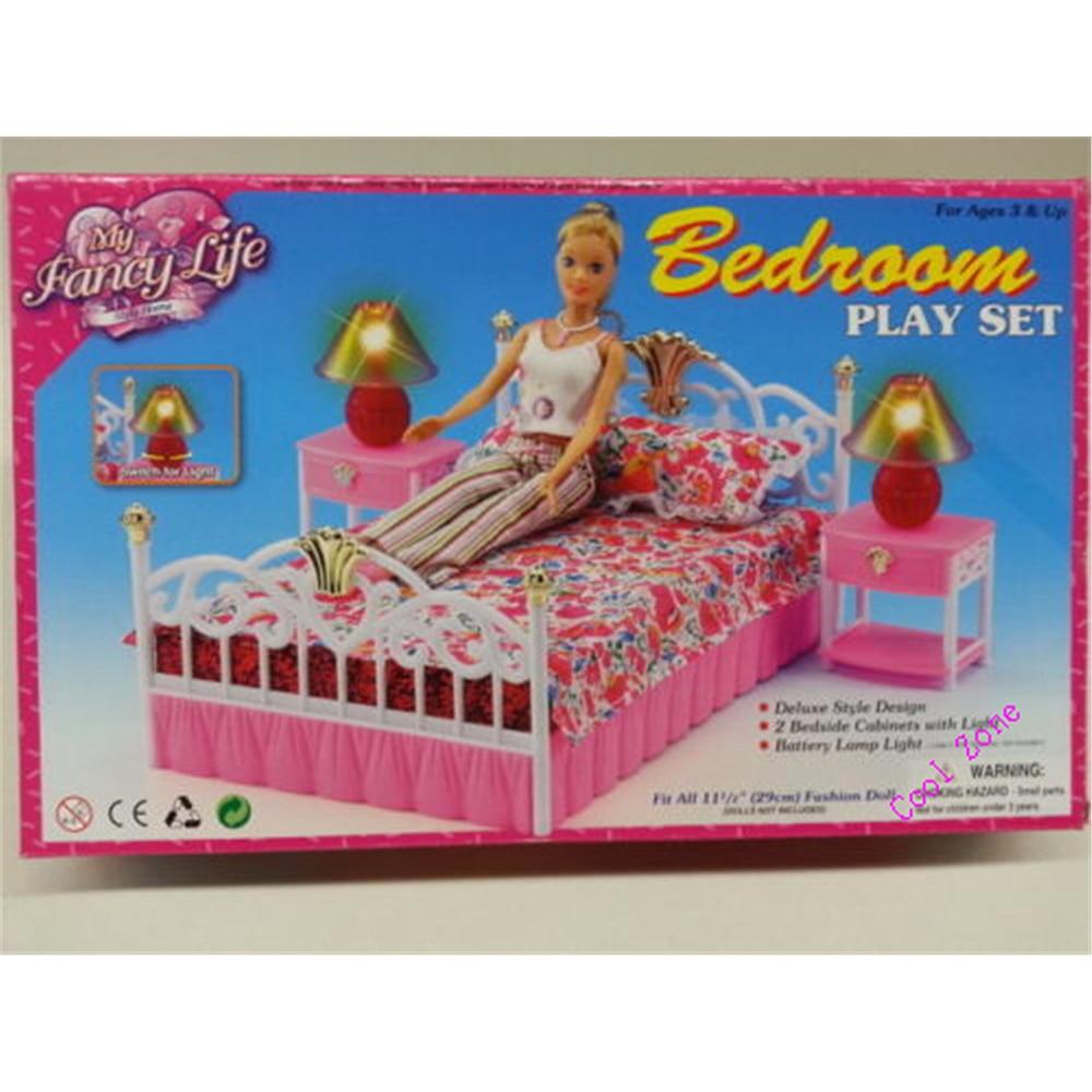 Miniature Furniture Bedroom Gloria For Barbie Doll House