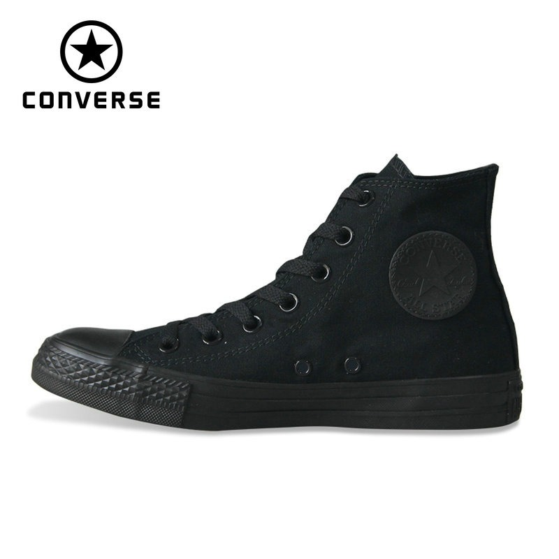 bd520be06bb0 Original Converse all star shoes men women s sneakers canvas shoes all  black high classic Skateboarding Shoes