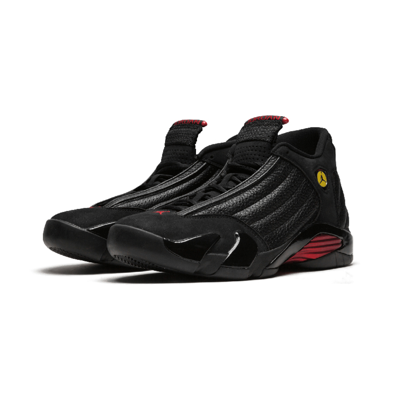 Original Authentic NIKE Air Jordan 14 Retro Men's Basketball Shoes Sport Outdoor Sneakers Medium Cut Lace-Up Good Quality 487471 59