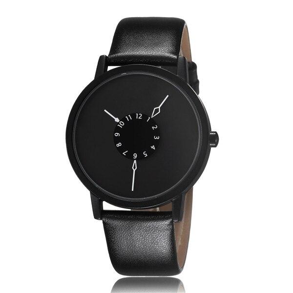 Paidu Fashion Cool Unique Design Quartz Wrist Watch Turntable Black Dial Clock Hours Mens Womens Gift Unisex relogio masculino