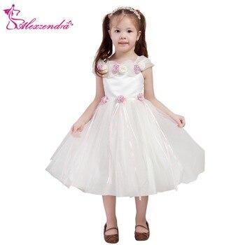 Alexzendra Cute Organza Flower Girls Dresses Cap Sleeves Girls First Communion Dress Princess Girl Dress