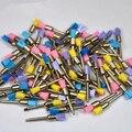 100pcs New Color Nylon latch flat Polishing Polisher Prophy Brushes Dental Brush For Sale