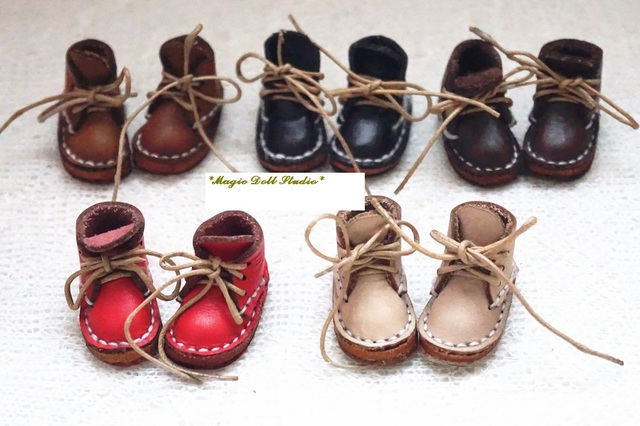 US $10 88  [MG401] Free Shipping NeoBlythe Doll Accessories #Little  Pleather Boots for neoBlythe doll shoes making doll accessories-in Dolls