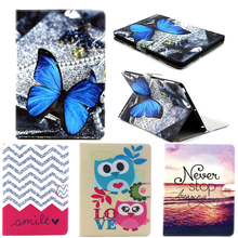 New For Apple ipad 4 Case Magnetic Flip Painted Owl Bear Elephant Funda Case For ipad