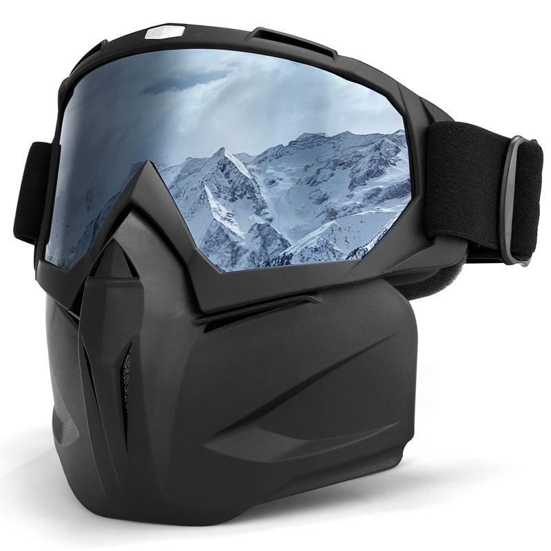 INBIKE Ski Glasses Mask Snow Goggles Winter UV400 Snowboard Goggles Windproof Skiing Equipment Ski Mask Removable Skiing Eyewear