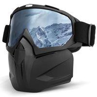 INBIKE kayak gözlüğü maskesi kar gözlüğü kış UV400 Snowboard gözlüğü rüzgar geçirmez kayak ekipmanları kayak maskesi çıkarılabilir kayak gözlük