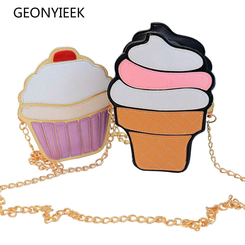 Ice Cream Cupcake Women Bag Crossbody Bags For Women 2018 Leather Shoulder Bag Female Luxury Handbags Famous Brand Bags Designer