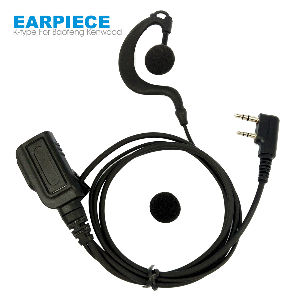5x Earhook Earpiece Headset Mic for KENWOOD BAOFENG UV5R PUXING WOUXUN TYT HYT