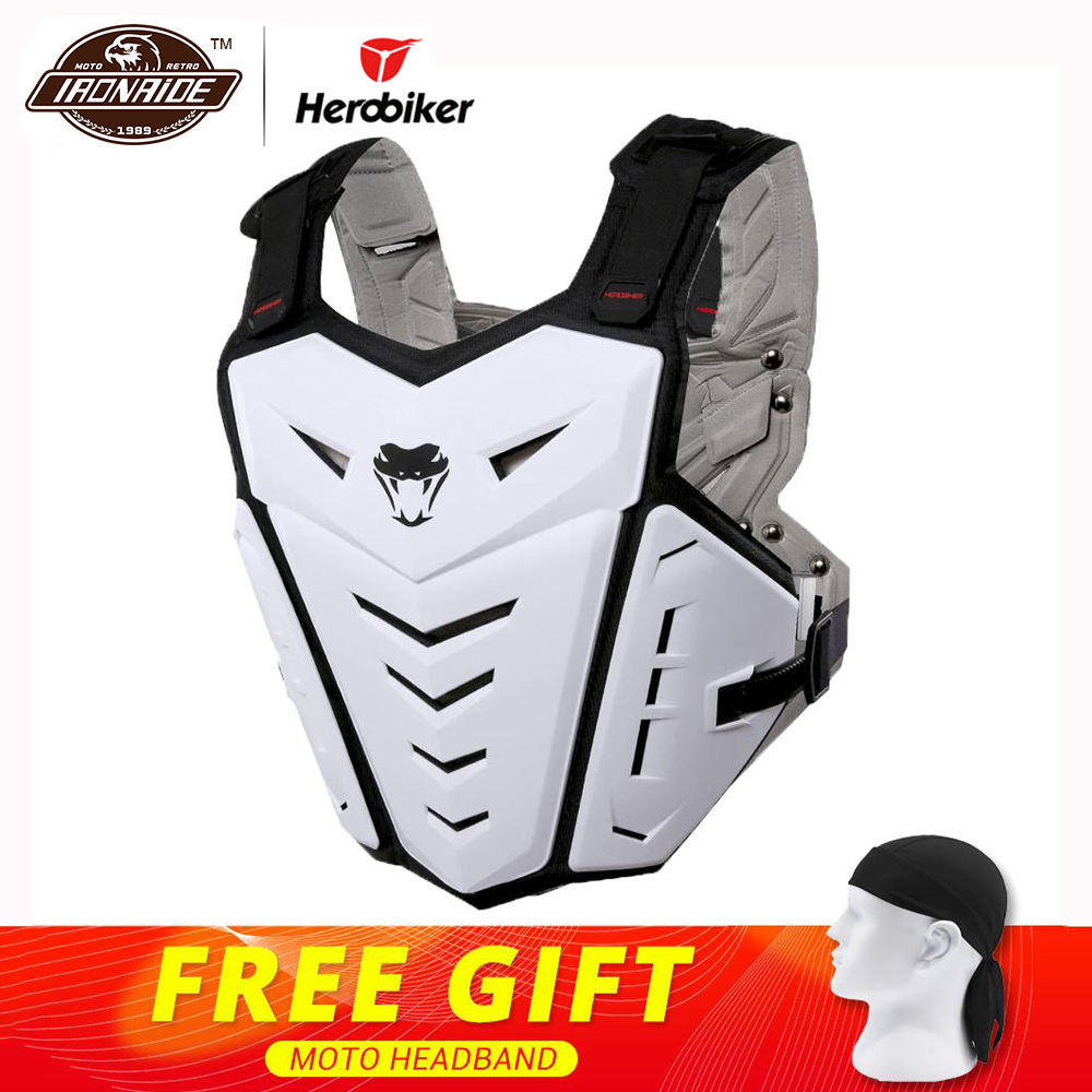 53e5c2a8 US $47.85 45% OFF|HEROBIKER Motorcycle Jacket Body Armor Motorcycle  Motocross Moto Vest Back Chest Protector Off Road Dirt Bike Protective  Gear-in ...