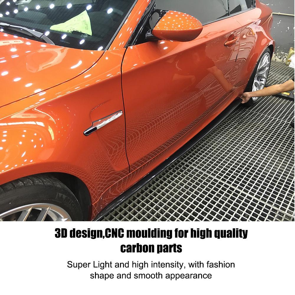 E82 M tech Fartuch wyczynowy z włókna węglowego, boczne listwy - Części samochodowe - Zdjęcie 5
