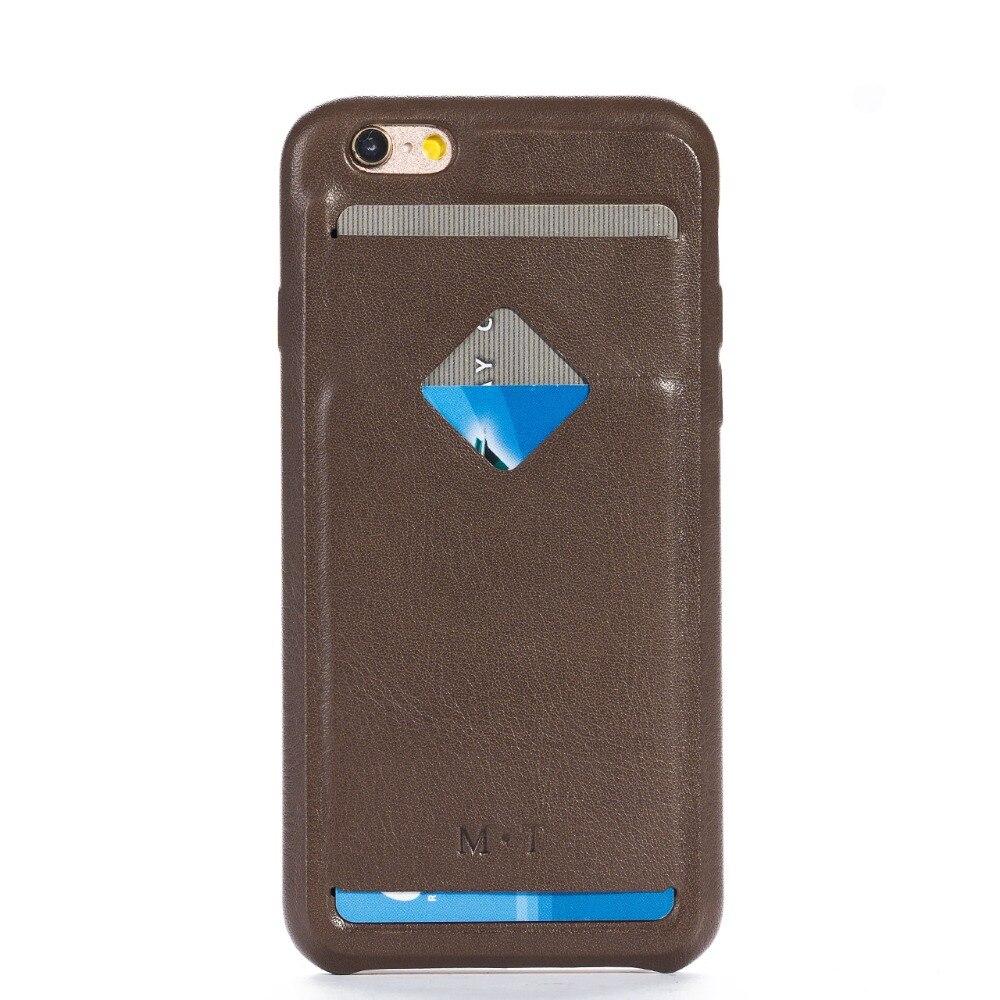 Coque de téléphone multifonctionnelle en cuir de vache 2018 avec porte-carte pour iphone 6 6s 4.7 ''livraison gratuite