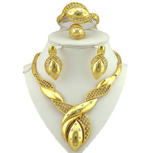 jewelry sets dubai gold women fashion necklace fine 24k flower