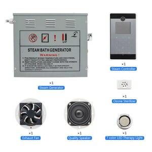 Image 5 - CE 4.5KW AC110/220V Bluetooth Wet Steam Bath Sauna Generator With Shower Spa Accessories Brass Safety Valve Auto Drain Steamer