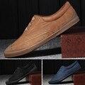2016 Del Otoño Del Resorte Hombres de la Marca Casual Zapatos con cordones de Los Hombres Zapatos planos Transpirable Suede Classic Casual Zapatos de Los Hombres Tamaño de LA UE 39-44