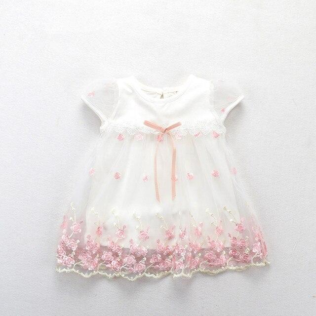 סיטונאי 5 יח'\חבילה שמלות יילוד תינוק בנות בנות 2018 החדש לתינוקות בנות קיץ בגדי תינוק שמלת מסיבת יום הולדת 0-2 T