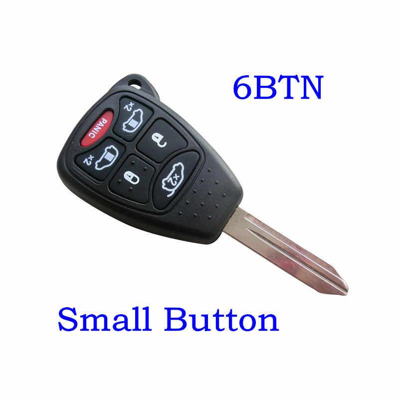 6 boutons télécommande voiture clé Shell couverture Fob pour Chrysler ville et pays grande caravane Sebring Dodge Jeep voiture Case