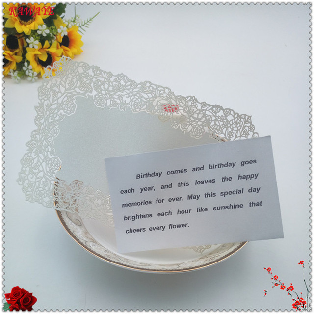 30pcs 18x12cm Laser Cut DIY Wedding Party Menu Card Rose Table Place ...