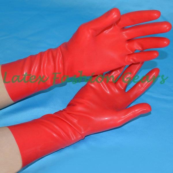 Yüksək keyfiyyətli 100% təmiz lateks əlcəklər sexy unisex qara - Geyim aksesuarları - Fotoqrafiya 3