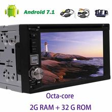 Android 7.1 Car Stereo 8-core GPS Navigation 2din Head Unit Support CD/DVD/1080P Video Player USB/SD FM/AM Wifi+Wireless Camera