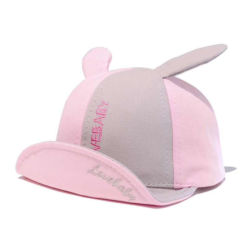 6m to 2t Children 39 s hat spring han edition men tide girls baby bump color flanging cap color matching shade baseball cap XA 240 in Hats amp Caps from Mother amp Kids